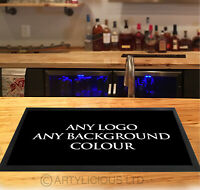 Personalised with your Logo - Pub, Hotels, Barbers, parties, Vaping, counter mat