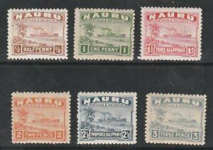 Nauru Scott 17-29, 1924-28 Freighter, Unused, FVF, OG, LH