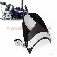 US Motorcycle Windshield Wind Screen Fit Harley Softail Dyna w/ 38-45mm Forks