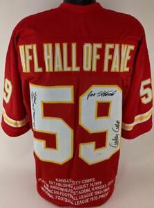 Jan Stenerud & Ed Podolak Signed Chiefs Super Bowl IV Custom Jersey PSA