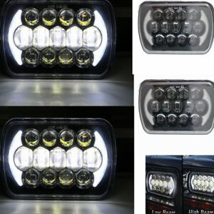 1pair 5X7inch HEADLIGHT H4 REPLACEMENT HIgh low beam  LED UPGRADEHEAD LIGHT