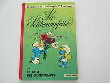SCHTROUMPFS T3 1972 BE/TBE DOS ROND LA SCHTROUMPFETTE