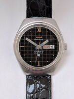 Vintage HMT Ashraya 21 jewels automatic day date watch