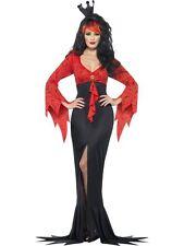Evil Queen Costume, Halloween Adult Fancy Dress, UK Size 12-14
