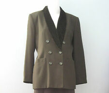 LE SUIT PETITE Size 10P Dark Green Fully Lined Blazer