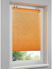 Klemmrollo Raffrollo Gardine orange mit Haken und Oesen 90 x 210 cm H-Home