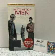 Vhs Matchstick Men Starring Nicholas Cage (Spanish Version) (2004) New