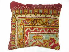 Pillow Made From An Antique Turkish Oushak Rug