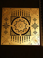 Erica/Fortgens/stencil/Christmas/Star/Candle/Holly/Voor/emboss/Stitch/EF8012