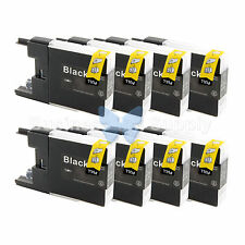 8 BLACK LC71 LC75 Compatible Ink Cartridge for Brother LC75BK HIGH YIELD LC71BK