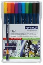 Staedtler Mars Graphic 3000 Duo Brush Marker - Twin (10 COLOUR /pack)