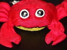 "9"" BATH TIME RED CRAB LOBSTER CLAW PLUSH PUPPET STUFFED ANIMAL TOY"