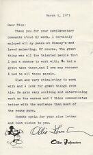 OLLIE JOHNSTON Typed Letter Signed TLS Autographed Inscribed Walt Disney Studios