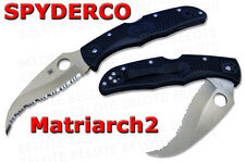 "Spyderco Matriarch 2 Serrated Vg-10 ""S"" Blade Frn Handle Folding Knife C12Sbk2"