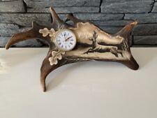 Damhirschschaufel, Handgravierte  Abwurfstange Uhr Damhirsch NEU 158987