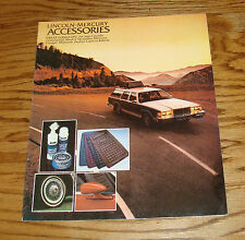 Original 1979 Lincoln Mercury Accessories Sales Brochure 79 Cougar Mark V