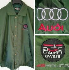 Audi Aware 48 Hours Green Lightweight Nylon Waterproof Mens Kagool Jacket Size M