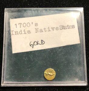 INDIA 1700s Gold Piece, Native Princely States, Small Coin, High Grade