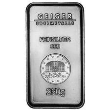250 Gram Geiger Security Line Silver Bar (New)