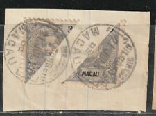 1903 Portuguese colony in China stamps, Macao 3a bisected, used SG 174a