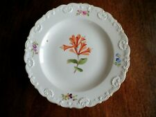 More details for antique 19thc meissen porcelain botanical plate -flower decoration-