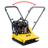 6.5HP Gas Walk Behind Vibratory Plate Asphalt Compactor Rammer Reversible Handle