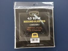 """200 Clear Plastic 45 RPM Outer Sleeves 2 Mil High Quality 7"""" Vinyl Record Covers"""