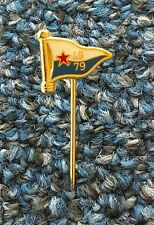 YUGOSLAVIA 1949 - 1979. marine ship yachting flag nautical, vintage pin badge !