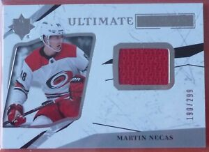 Martin Necas 2017-18 UD Ultimate Collection Rookies Jersey RC /299 Hurricanes