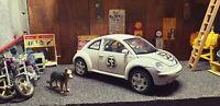 CUSTOM ONE - OFF Burago VW Beetle NEW Herbie 53 themed  1/18 diecast