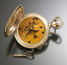 Illinois Columbia Model Pocket Watch with 3 oz. Coin Silver Hunter Case Antique