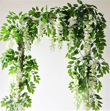 Artificial Flowers Silk Wisteria Ivy Vine Hanging Vine Garland for Wedding Party