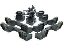 Warhammer 40k Aegis Defense Line Quad Gun Emplacement Terrain Scenery Primed
