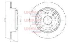 Unipart Brake Discs GBD1647, Honda Accord Rear.