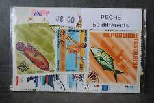 La pêche, 50 timbres thématiques, tous différents