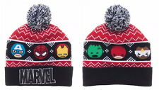 Marvel Kawaii Winter Beanie Black Hat Spiderman, Iron Man, Hulk, Daredevil Hat