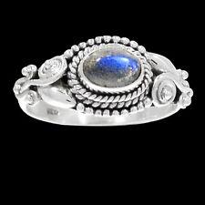 Artisan - Labradorite 925 Sterling Silver Ring Jewelry s.9 RR200194
