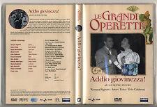Dvd LE GRANDI OPERETTE Addio giovinezza Giuseppe Pietri Romana Righetti Testa