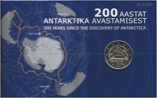 1x 2euro commémo. Estonie 2020 - expédition en Antarctique (neuve) COINCARD