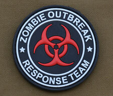 "PVC / Rubber Patch ""Zombie Outbreak Response Team"" with VELCRO® brand hook"