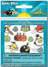 ANGRY BIRDS 3 pks of 104 STICKERS Bitty Bits 8 sheets each pk = 24 sheets Treats