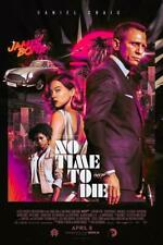 Poster No Time To Die 007 James Bond Daniel Craig Blumenranke Malek Kino #1