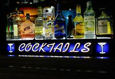 3'Led Lighted Liquor Bottle Shelf Vintage Look Cocktails Bar Sign Remote Control