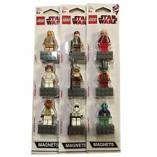 3 X LEGO Star Wars Magnet Sets 852843 4585396 852844 New N0T Glued 9 Mini Figs