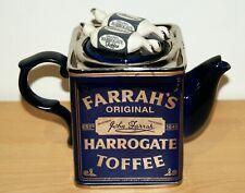 More details for novelty teapot farrahs original harrogate toffee swineside ceramic