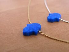 Opal hamsa necklace, gold hamsa necklace, opal necklace, blue hamsa necklace