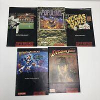 Lot Of 5 Super Nintendo Manuals Mega Man X Street Fighter Indiana Jones SNES B5