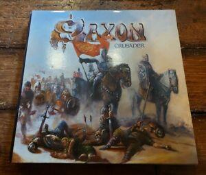 SAXON - CRUSADER LP GATEFOLD CAL 200 CARRERE 1984 VG+!