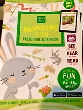Preschool/Kindergarten-MATH NUMBERS FUN-activity learning home school workbook!