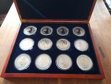 More details for 12 x 1oz .999 silver britannias in presentation box